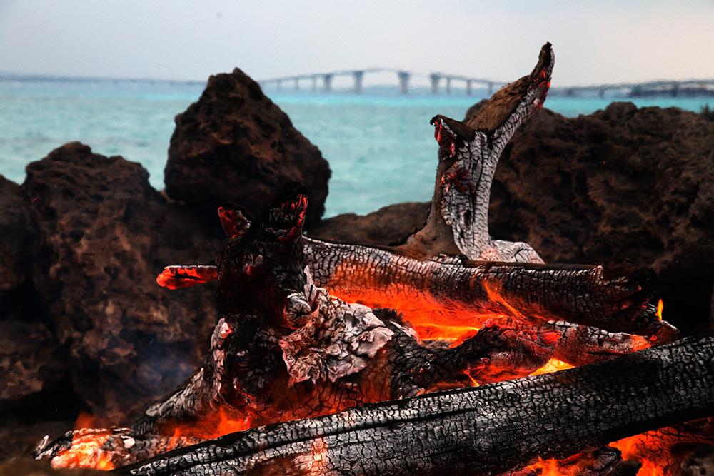清めの焚き火