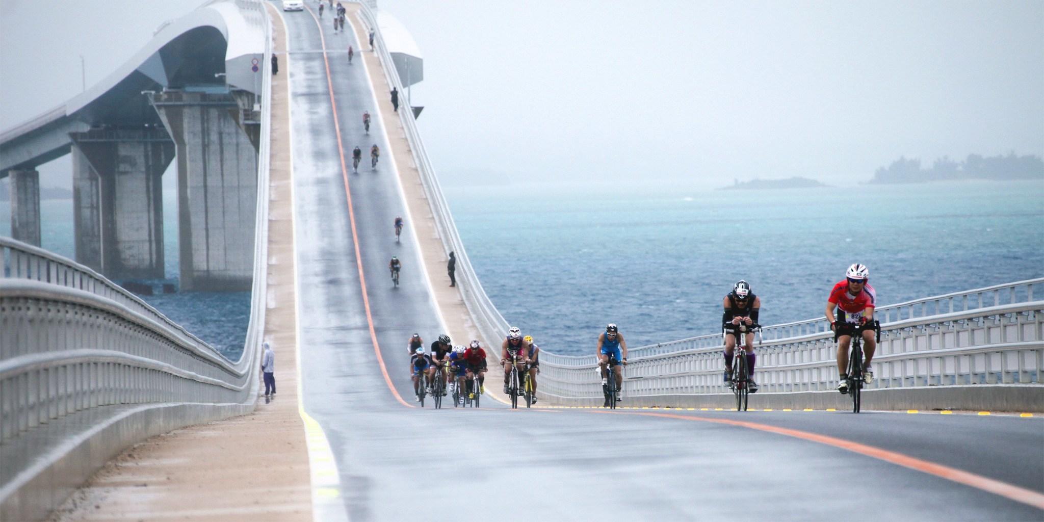 レースで最も過酷な伊良部大橋