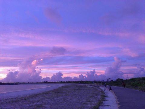 宮古島トゥリバーの夕焼け
