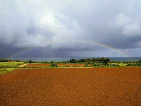 宮古島の完璧な虹