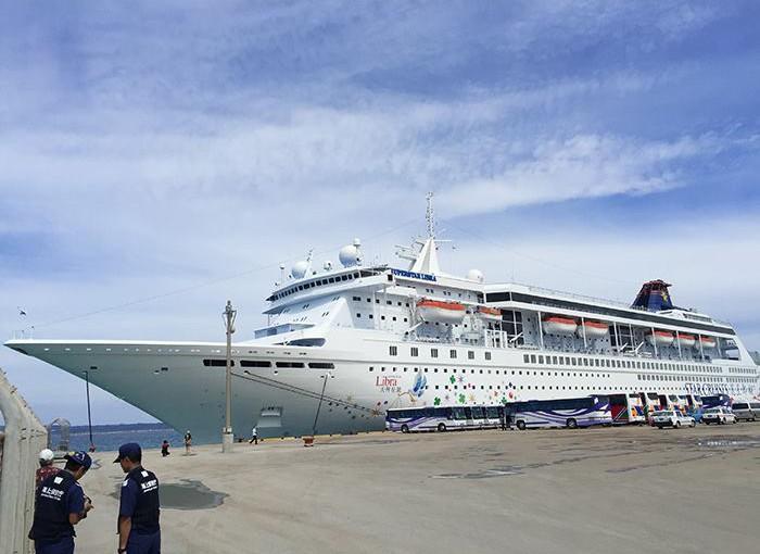 宮古島に来た中国のクルーズ船