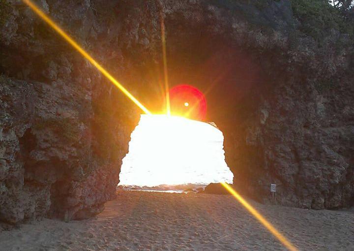 宮古島砂山ビーチの夕日