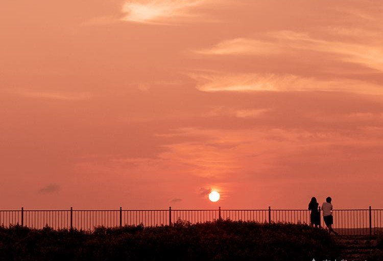 トゥリバーで眺める夕日