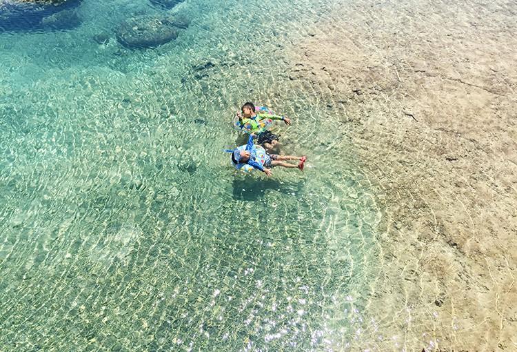 宮古の海と子ども達